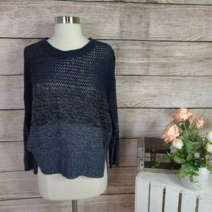 4/$25 Quinn Ombre Open Knit Blue Sweater Small